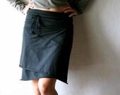 Wrap skirt, Cotton skirt, Black skirt, Jersey skirt, Womens clothing, Pencil skirt, Maternity skirt, plus size clothes, Mini skirt, tank top