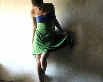 Strapless dress, Jersey dress, High low dress, Open back dress, Asymmetrical dress, Day dress, womens dress, Summer dress, Party dress