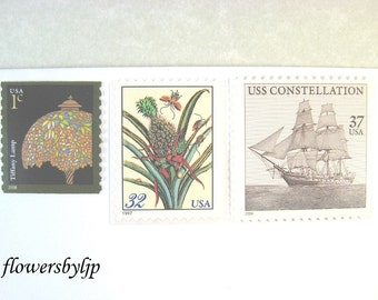 Destination Wedding Postage Stamps, Vintage Ship - Tropical Plants Stamps, Mail 20 Invitations, 70 cents postage for 2 oz, new 2017 rate
