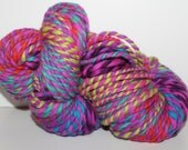 RESERVED FOR ROSEMARY  Handspun Merino Wool Yarn.  2ply Bulky Weight. Self Striping. Huge Skein. 8oz. 180 yards