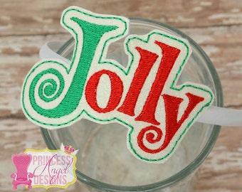 Jolly Headband ~ Slider Headband ~ Winter Snow Headband ~ Christmas Headband