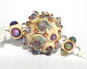 Lampwork  Art Beads by Jeanniesbeads #1811