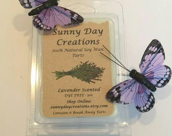 Lavender Scented 100% Natural Soy Wax Break Away Tarts 3 oz