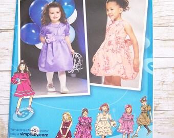 Simplicity 2767 Project Runway children's sewing pattern girls dress size AA 1/2-1-2-3 uncut