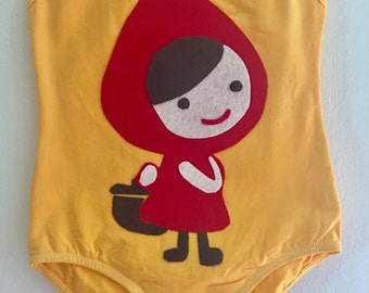 Little Red Riding Hood Leotard - Big Bad Wolf - Little Red Riding Hood Birthday - Little Red Riding Hood Party - Fairytale Birthday - person