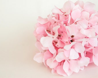60 Silk Hydrangea Petals in Light Pink - Artificial Hydrangea, Artificial Flowers - ITEM 01033