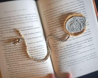 Crochet Pattern: Golden Snitch Bookmark