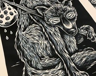 LONE WOLF screenprinted poster