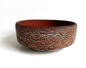 Vintage Art Pottery, Pedestal Base Planter, MCM Snack bowl, Clay Cactus planter, Succulent Cache Pot, Boho home decor, Dutch design