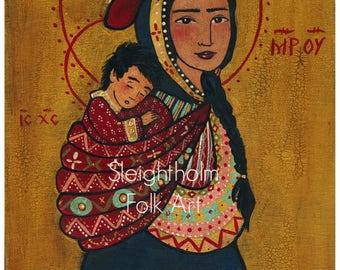 PRINT Madonna of the Andes 8x10 religious folk art