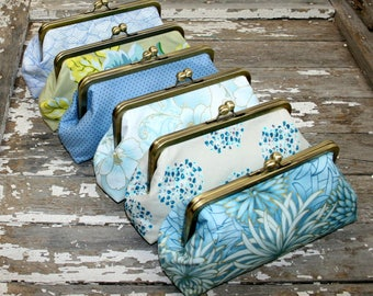 custom - bridesmaid gifts, personalized clutches, choose your fabrics, custom clutch