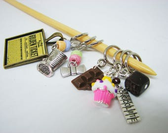 Willy Wonka Candy & Chocolate Non-Snag Stitch Markers -