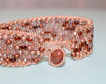 Peyote Cuff Beaded Bracelet