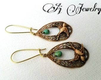 Sparrow Turquoise Earrings