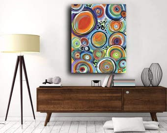 Original Painting, Acrylic Painting on Canvas, Large Abstract Art, Contemporary Art, Modern Art, Circles Spheres Globes Ecliptic Discs