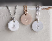 Custom Initial  -- Necklace/Card Set - SOLID sterling or 14K GOLD-FILLED