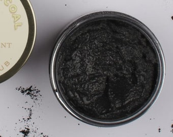 Bamboo Charcoal Sugar Scrub with tea tree oil - Facial Scrub, Acne, Essential Oil Sugar Scrub
