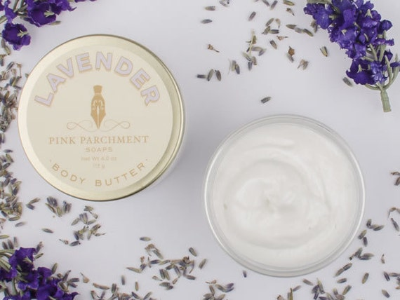 Lavender Body Butter - With Shea Butter and Lavender Essential Oil - Gift for Her - Gift For Him - Stocking Stuffer