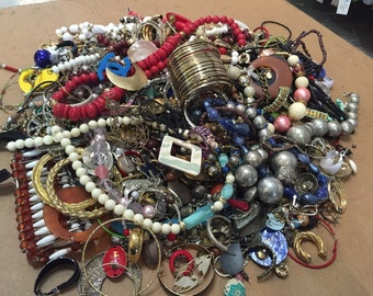 9 lbs Destash Vintage to Now Junk Jewelry for crafting