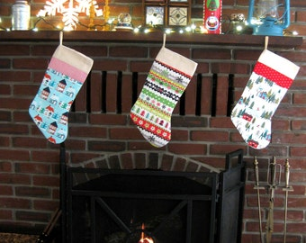 SALE! 20% off - Christmas Stockings in coordinating fabrics