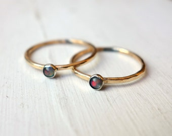 14k Goldfill and 3mm Genuine Opal Ring