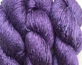 Silk Yarn - Hand Dyed DK - Shade: Blue Violet