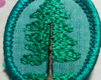 Vintage Girl Scout Troop Crest Badge/Patch Pine Tree