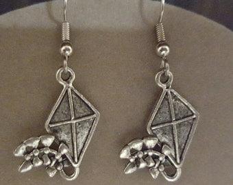 Kite Earrings Pewter