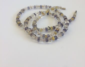Beaded faceted semiprecious stones Necklace.