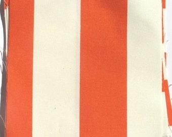 Orange Stripes - IKEA Sofia Cotton Fabric Quilting Charm Squares