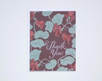 Nasturtiums Thank You - Note Card