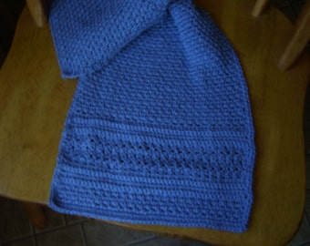 Crochet Denim Color cotton Hand Towel  and matching dishcloth, kitchen accessory