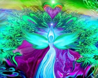 Angel Art Reading-Angel Readings, Angels Messages, Receive messages from angels, art angel, angel images, angel painting, psychic readings,