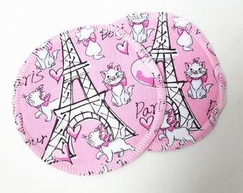 Postpartum Nursing Pads .. Paris Printed Cotton and Bamboo French Terry FREE Shipping