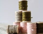 Custom: Remaining Vintage Linen Twine, Pink