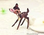 4pcs Wooden Vintage Fawn Charm , Laser Cut Wooden Bambi Pendant, Perfect for Necklace Brooch  - HW088E