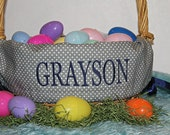 Personalized Easter Basket Liner--- Lots of fabrics to choose from