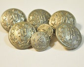 Vintage Silvertone Police Dress Uniform Buttons