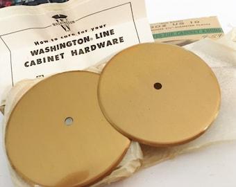 Vintage Hardware  Restoration hard Satin Bronze Back Plates for Knobs  Vintage Bronze 2 3/4 inch Back Plates for Cabinets in Original Box
