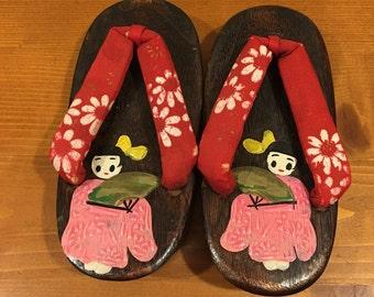 Vintage Toddler Kimono Shoes