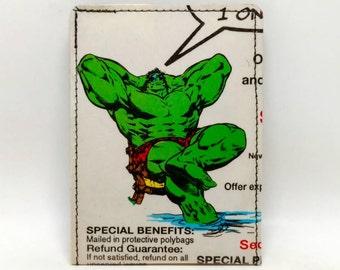 Sewn Duct Tape Comic Book Wallet - Vintage Hulk Design 1