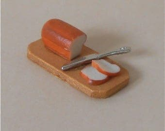 Miniature Food~Miniature Bread~Miniature Bread Loaf~Mininature Dollhouse Bread~Mini Bread~Mini Bread Loaf~Sliced Bread~Bread Slice