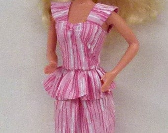 "Pink 11.5"" Fashion Doll Dress Handmade ready to mail"