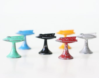 Vintage Airplane Game Pieces, Set of 6