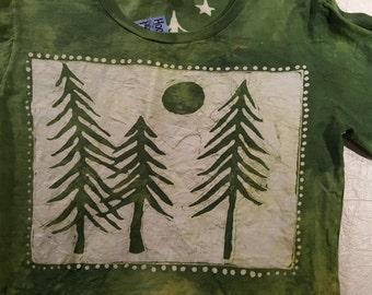 S Women's Pines batik long sleeve Small