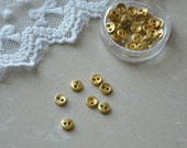 """12pcs+ 5mm/0.195"""" Tiny Gold buttons for SD Dolls clothes/ Scale Dolls clothes / mini buttons for doll clothes"""