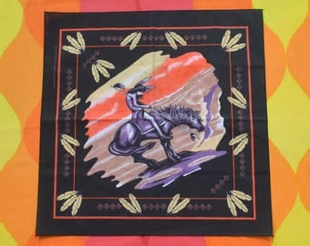 80s vintage bandana scarf NATIVE american trail of tears new tribal bandanna handkerchief