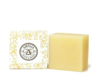 Lemon Verbena | Shea Butter Soap, Lemon Soap, Facial Soap, Soap for Women, Square Soap, Men | Lemon Verbena Shea Butter Soap in Large Size