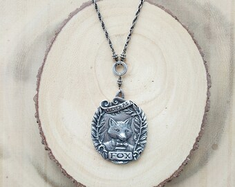 Clever Fox Pendant | Sterling