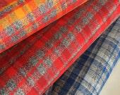 FLANNEL fabric, Mammoth Flannel Fabric Bundle of 3, Hipster fabric, Lumberjack, Red Black Plaid, Robert Kaufman- Choose the cuts